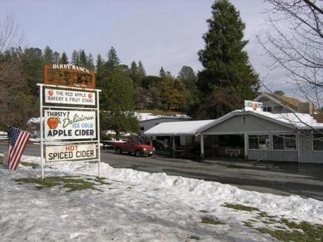 The Red Apple is an orchard/farmstand/bakery in California's Sierra Nevada Mountains.